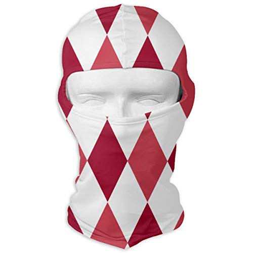 Diamond Beanie Ride - Wind-Resistant Balaclava Hood, Diamonds Christmas Red Face Mask for Ski&Snowboard