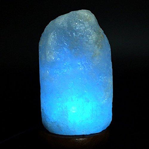 HOCINA Natural Himalayan Rock Salt Mini Lamp Multi Color Change with Wood Base, USB Powered ...