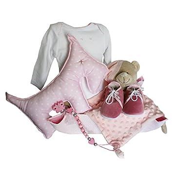 Canastillas para bebé - Cuki perro rosa -cesta regalo recién nacido ...