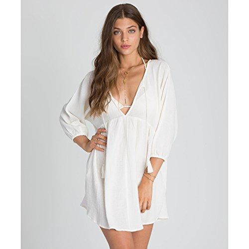 Billabong Women's Wild Shores Dress, Cool Whip, (Cool Dress Ups)