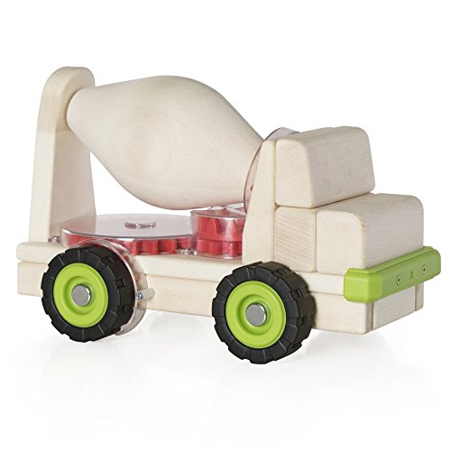 - Guidecraft Block Science Big Cement Truck, Wooden Toy with Gears
