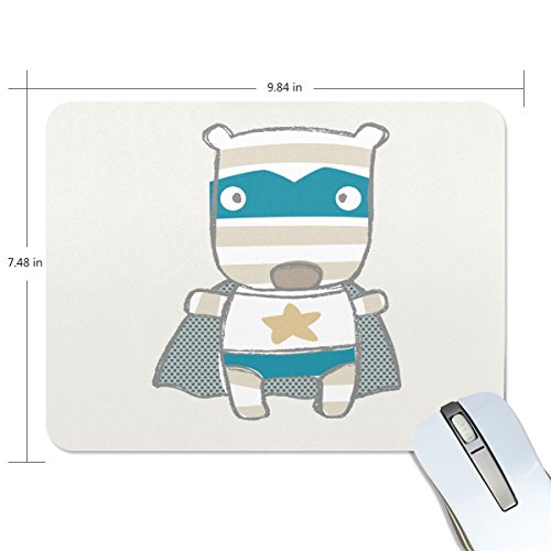 Personalized Mouse Pad Large Rectangle Gaming Mouse Pad Style Rubber Mousepad with Superman Cartoon Puppy in 9.84