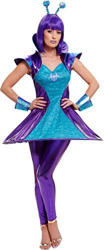 Smiffys Alien Lady Costume Multi Large (UK Dress ()