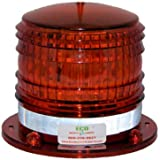 S8LFM 2NM IP67 SOLAR LED Magnetic Marine Dock Barge Safety Beacon Light 360 Degree (RED)