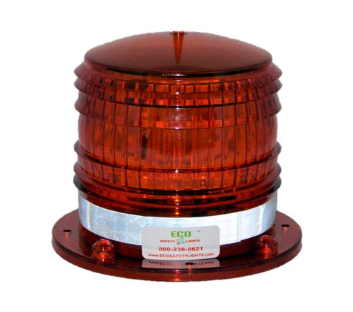 Marine Hose Rig - S8LFM 2NM IP67 SOLAR LED Magnetic Marine Dock Barge Safety Beacon Light 360 Degree (RED)