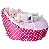 BayB Brand Baby Bean Bag - Filled - Ships in 24 Hours! (Pink/Pink)
