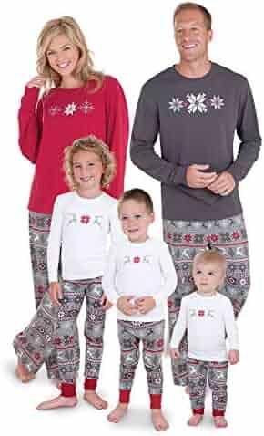PajamaGram Family Christmas Pajamas Set - Soft Cotton Family Pajamas, Gray