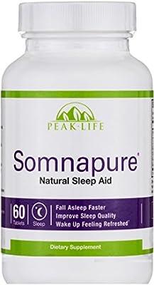 Peak Life - Somnapure Natural Sleep Aid - 60 Tablet(s)