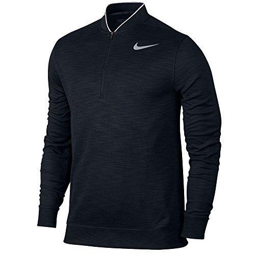 Nike Transition Dry Long Sleeve Golf Polo 2017 Black/Flat Silver Medium