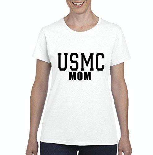 (Xekia USMC Mom Proud Marine Corps Women's T-shirt Tee Clothes XX-Large)