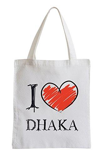 Amo Dhaka Fun sacchetto di iuta