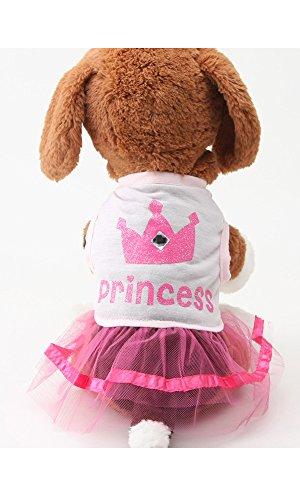 Alroman Dog Pet Dresses Doggie Skirt Princess Dog Clothes Dog Dress Puppy Apparel (Medium) (Dresses For Dogs)