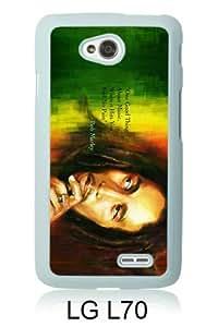 Bob Marley 3 White New Customized LG L70 Phone Case