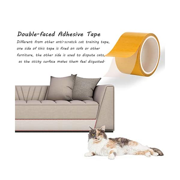 Awesome Ayunjia Cat Anti Scratch Tape Residue Free Cat Training Tape Clear Removable Kitty Scratch Deterrent Furniture Prevention Leather Couch Protector Gmtry Best Dining Table And Chair Ideas Images Gmtryco