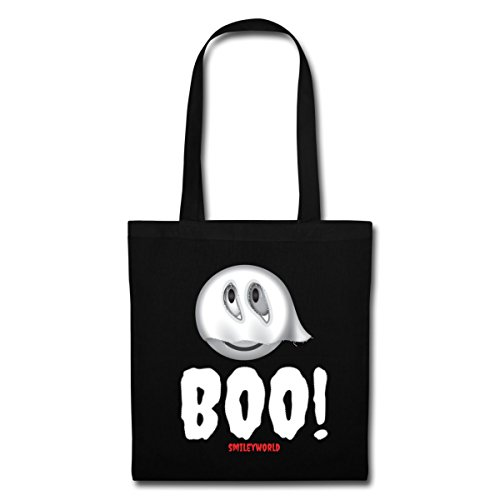 Boo World Black Halloween Smiley Spreadshirt Cute Tote Ghost Bag gXCqF5Uwx