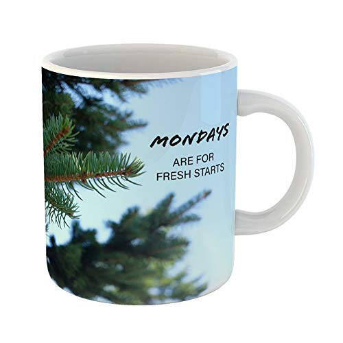 Emvency Coffee Tea Mug Gift 11 Ounces Funny Ceramic Green Abstract Inspiration Motivation Quote About Life Better Gifts For Family Friends Coworkers Boss -