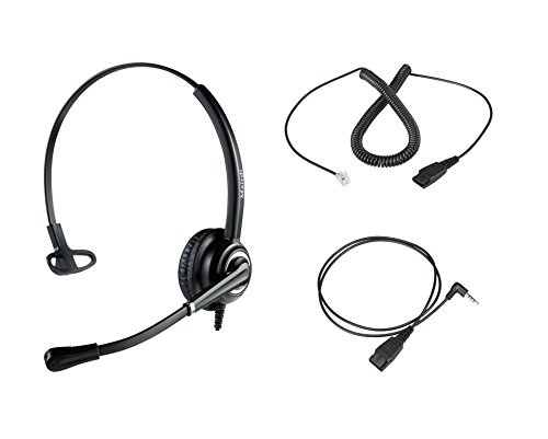 Corded Rj9 Telephone Headset With Noise Cancelling Microphone Jabra Compatible For Avaya Polycom Nortel Altigen Toshiba