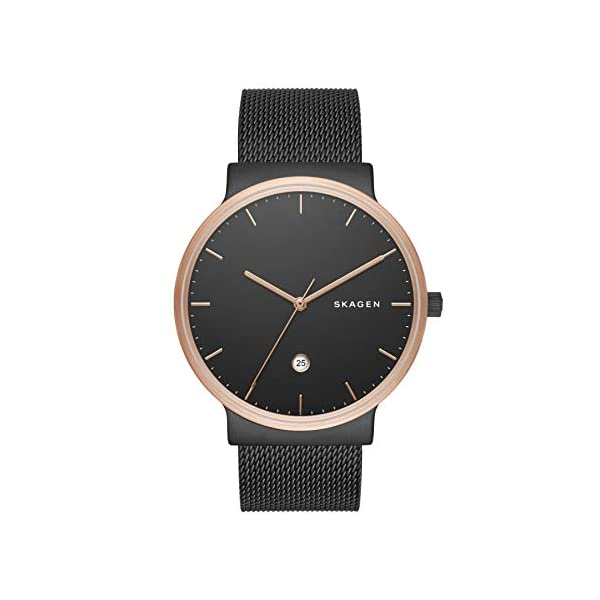 Skagen-Mens-Ancher-Stainless-Steel-and-Mesh-Quartz-Watch
