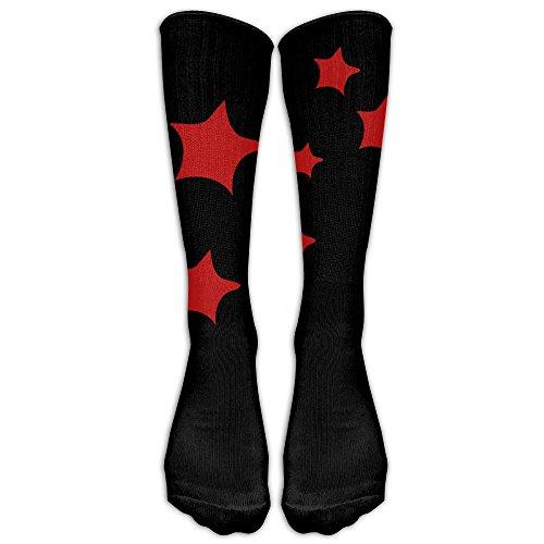 Unisex Knee High Long Socks Red Stars School Uniform High Long Stockings ZHONGJIAN from ZHONGJIAN