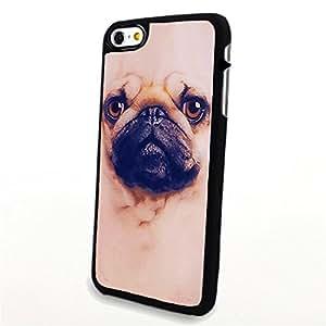 Generic Phone Accessories Matte Hard Plastic Phone Cases 3D Animal Portrait Pug Dog fit for Iphone 6 Plus