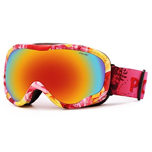 SE7VEN Snowboard Goggles,Double Couche Anti Brouillard Unisexe Plus De Lunettes Pour Les Sports D'hiver E