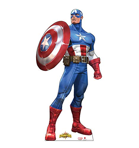 Advanced Graphics Captain America Life Size Cardboard Cutout Standup - Marvel: Contest of Champions