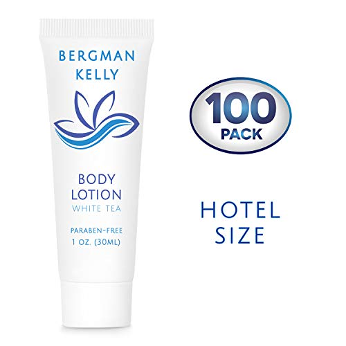 BERGMAN KELLY Travel Size Lotion (1 Fl Oz, 100 Pack), Delight Your Guests with a Revitalizing and Refreshing Body Lotion, Quality Mini and Small Size Guest Hotel Toiletries in Bulk