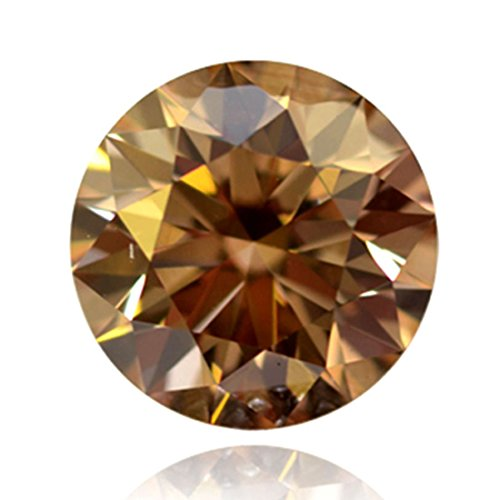 Nakshu Jewels VS1 Round Cut Loose Real Moissanite Use 4 Pendant/Ring Brown Color Stone (2.00) ()