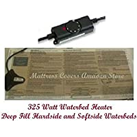 Waterbed heater for California king, queen & single hardside water bed mattresses