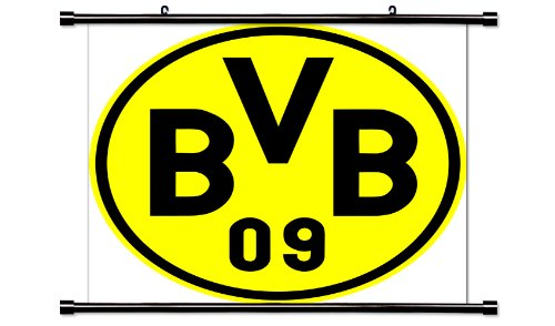 Borussia Dortmund Futbal Club Bundesliga League Fabric Wall Scroll Poster (32x32) Inches