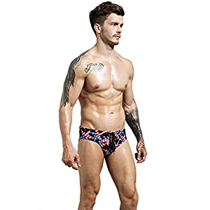 F plus R Mens USA Flag Stars Low Rise Swimwear Bikini Briefs Beach Swimsuit