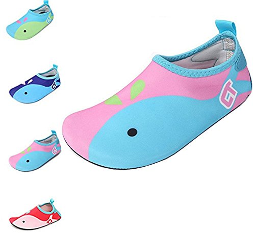 42382c67a ECOTISH Kids Swim Water Shoes Barefoot Aqua Socks Shoes For Beach Pool  Surfing Yoga Boys and