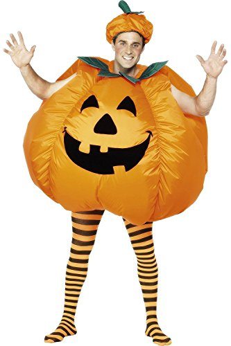[Halloween Party Activity Novelty Dress Inflatable Full Body Suit Jumpsuit Costume (One-Size,] (Adult Pumpkin Halloween Costumes)