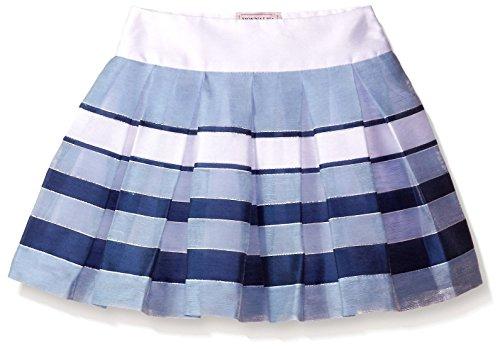 Monnalisa Big Girls' Stripe Skirt, Blue White, 10 by Monnalisa