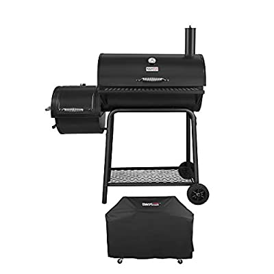 Royal Gourmet Charcoal Grill Offset Smoker (Grill + Cover)