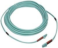 eDragon ED86099 10 Gigabit Aqua Fiber Optic Cable, LC/LC, Multimode, Duplex, 50/125, 9m, 2 Pack