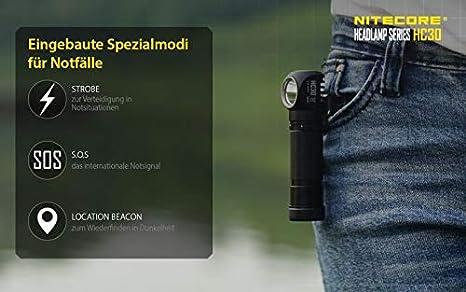 Nitecore DCR-HC30 Neutral White - 1000 lúmenes, ángulo de proyección: Amazon.es: Deportes y aire libre