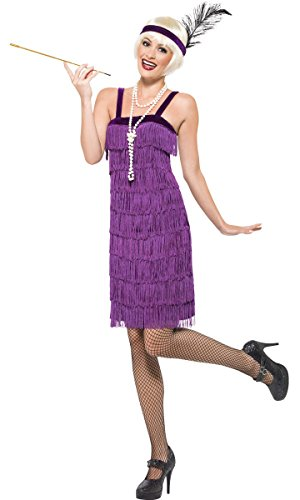 Buy smiffy's costumes lilac women's flapper dress