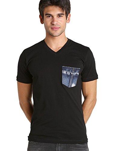Diesel T-Bascon Cotton Jersey Shirt Black