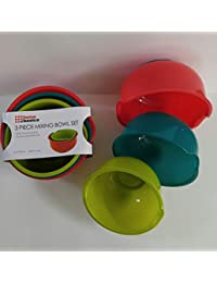 Win 2 Sets Home Basics Multi-Colored 3pc Mixing Bowl in 3 Different sizes offer