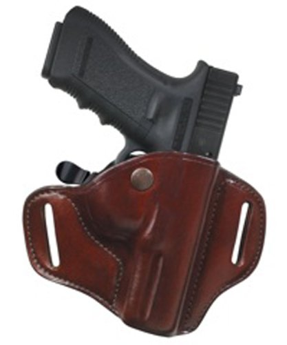 Leather Hip Holster - Bianchi 82 Carrylok Hip Holster - Size: 11 Glock 19 23 (Tan, Right Hand)