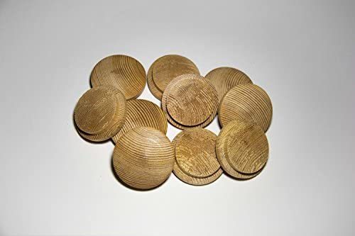 Pack de 10 tapones de madera Pino (Ø 45/55 mm con mecha)