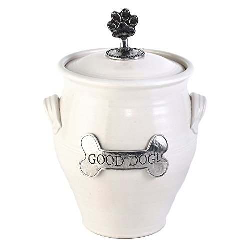 Oregon Stoneware Studio Large Dog Treat Jar, Whipping Cream by Oregon Stoneware Studio (Image #2)