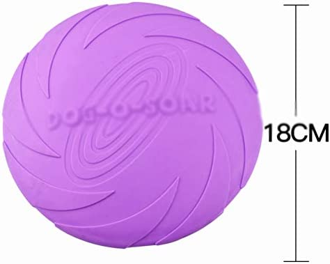 Durable Rubber Dog Frisbee 100% Soft Natural Non-Toxic High Grade Strong Clean Chew Toy Pet Training Flying Saucer Interactive Toys