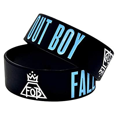 Silicone Bracelets with Sayings Fall Out Boy Pretty Rubber Wristbands Birthday Gift for Adults and Kids Who Love Rock Band Set Pieces Estimated Price £19.13 -