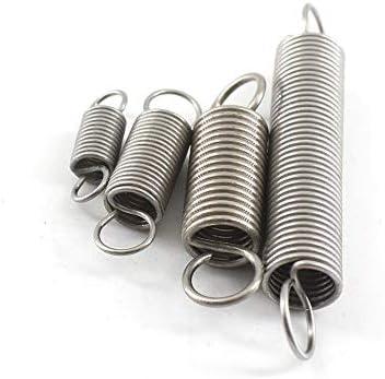 F-MINGNIAN-SPRING 5pcs Resorte de extensi/ón de 1,2 mm de Espesor de 12 mm OD Peque/ño muelles de tracci/ón Extensi/ón Muelle 70//80//100//120//130//140 mm de Acero Largo tama/ño : 1.2x12x70mm