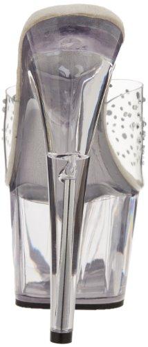 Pleaser Adore-701rs, Sandales Plateau Femme - Transparent (Transparent (Clr/ Clr))