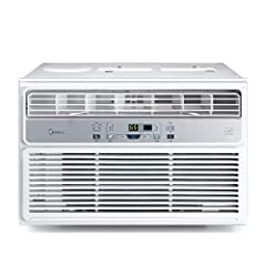 The Midea Easy Cool 3-in-1 Window Air Conditioner unit cools and dehumidifies home or office spaces quietly, quickly, and efficiently. Rated at 6,000 BTU, this unit is ideal for rooms up to 250 square feet. A clear LED display on the front pa...