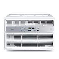 MIDEA EasyCool Window Air Conditioner – Cooling, Dehumidifier, Fan with remote control – 8,000 BTU, Rooms up to 350 Sq. Ft. (MAW08R1BWT Model)