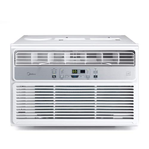 MIDEA MAW08R1BWT Window Air Conditioner 8000 BTU Easycool AC (Cooling, Dehumidifier and Fan Functions) for Rooms up to 350 Sq, ft. with Remote Control, 8,000, White ()